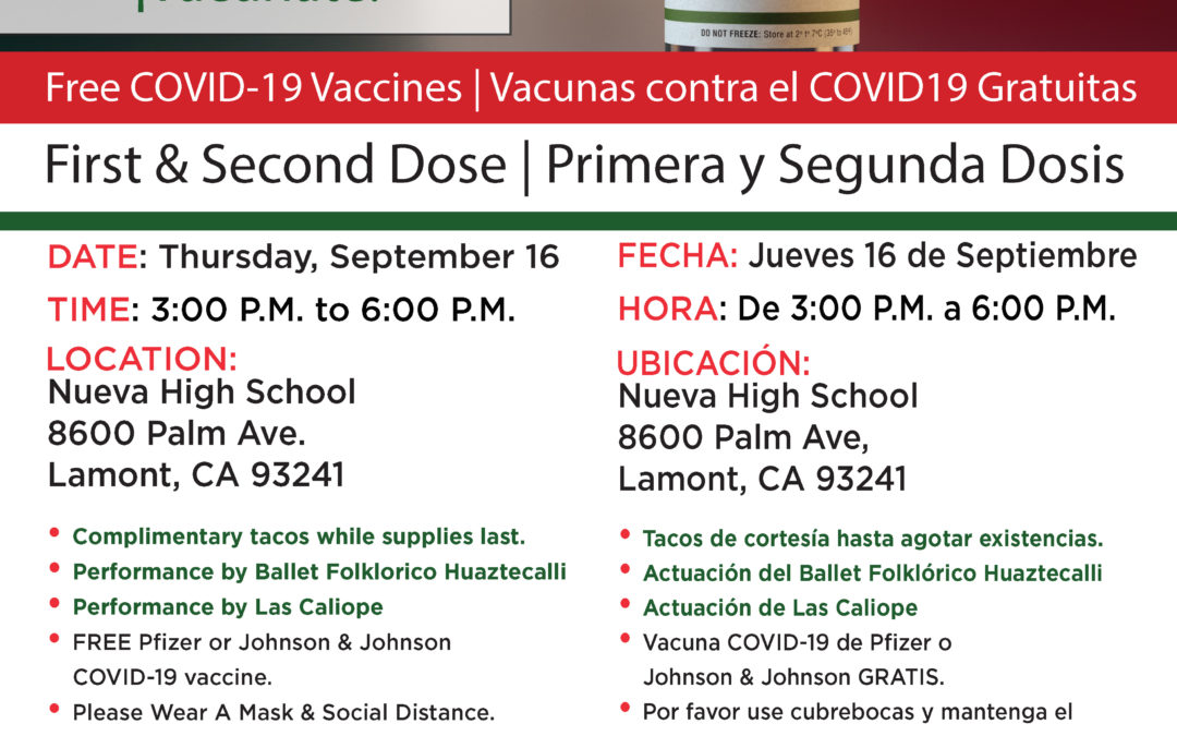 September 16th Vaccination Clinic