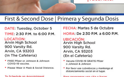 Arvin Vaccination Clinic: Tuesday, October 5